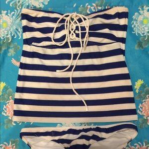 Ralph Lauren Nautical Stripe Tankini Set Size M